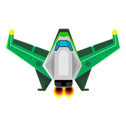 Icono de nave espacial plana