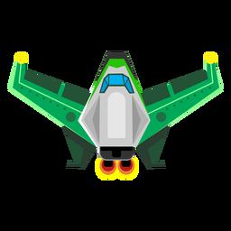 Raumschiff flach Symbol