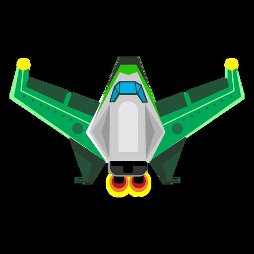Icono plano nave espacial