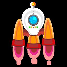 Ícone de ilustração de nave espacial