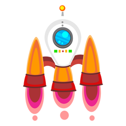Spaceship illustration icon