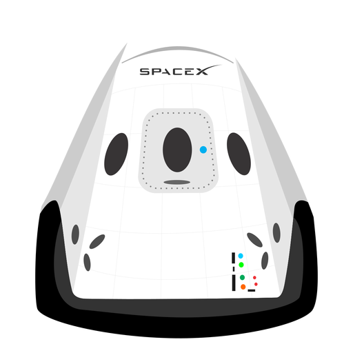 Spacex spacecraft icon Transparent PNG