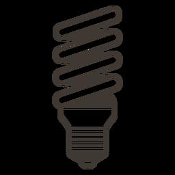 Bombilla espiral icono de trazo