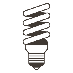 Icono de trazo de bombilla espiral