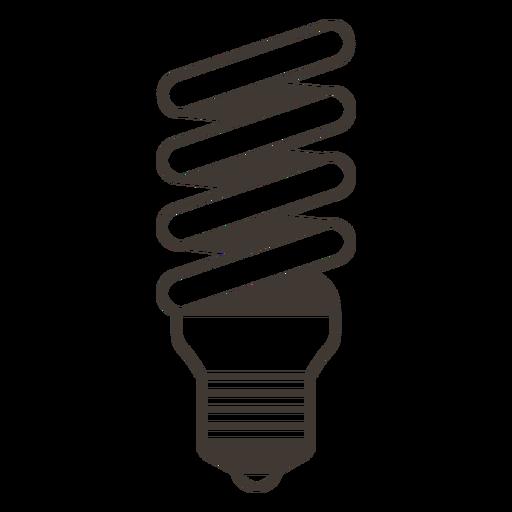 Bombilla espiral icono de trazo Transparent PNG