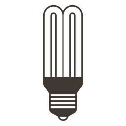 Stick light bulb stroke icon