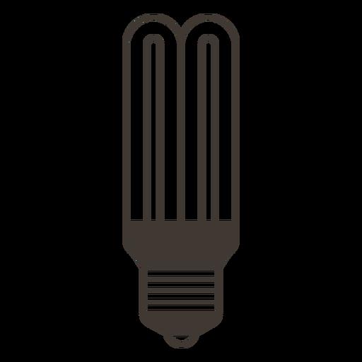 Stick light bulb stroke icon