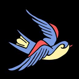 Tatuagem de pássaro de andorinha