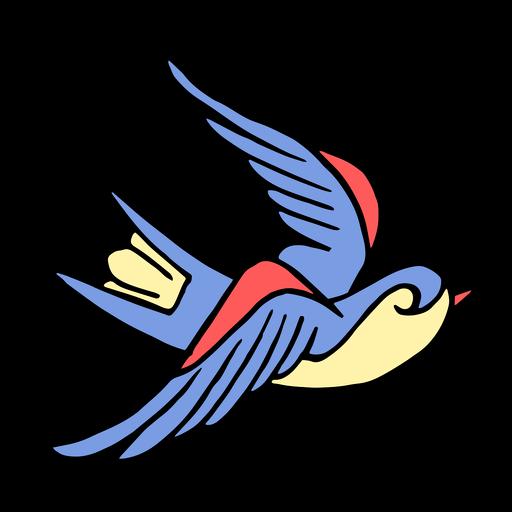 Golondrina pájaro vendimia tatuaje