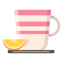 Taza de té con el icono de limón