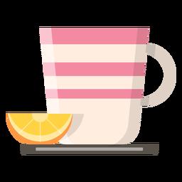 Xícara de chá com ícone de limão