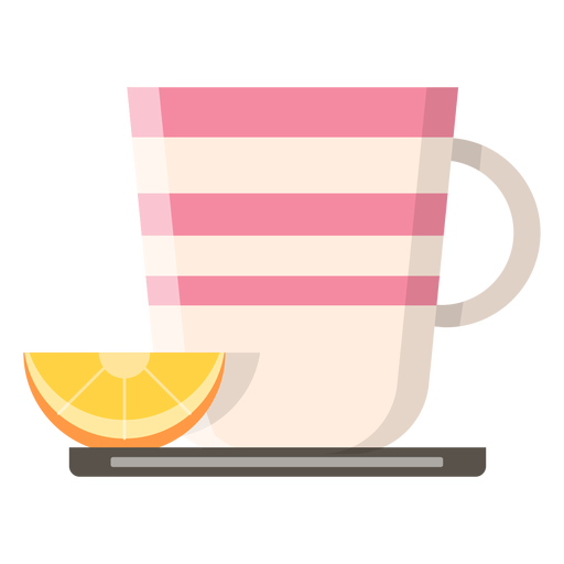 Tea cup with lemon icon Transparent PNG