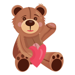 Teddybär, der Herz hält