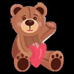 Ursinho de pelúcia segurando coração