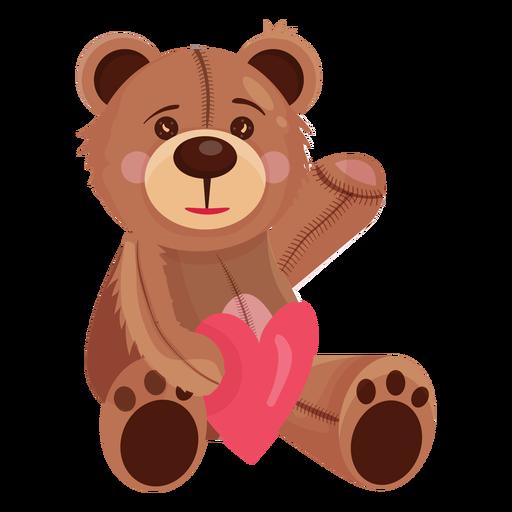 Ursinho de pelúcia segurando coração Transparent PNG