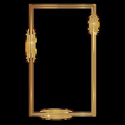 Dünner rechteckiger goldener Rahmen