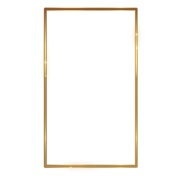 Retângulo fino moldura dourada