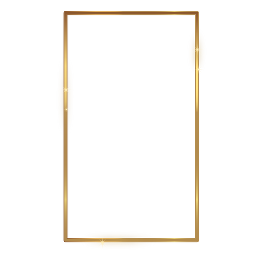 Thin Rectangle Golden Frame Transparent Png Amp Svg Vector