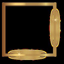Moldura quadrada dourada fina