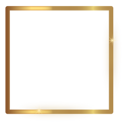 Thin square golden frame