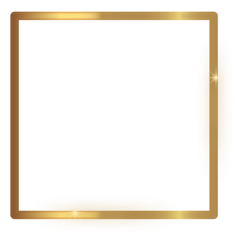 Dünner quadratischer goldener Rahmen Transparent PNG