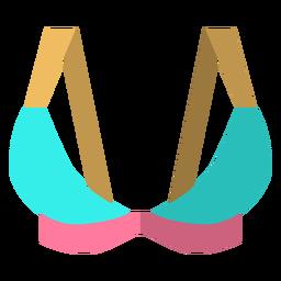 Icono de sujetador deportivo triángulo