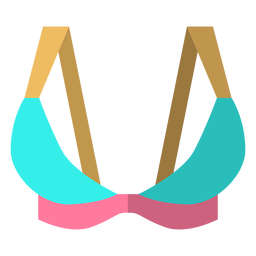 Triángulo icono de sujetador deportivo