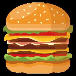 Icono de triple hamburguesa con queso