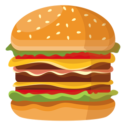 Triple cheeseburger icon