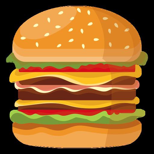 Icono de hamburguesa triple Transparent PNG