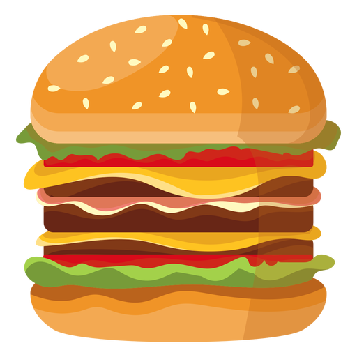 Triple cheeseburger icon Transparent PNG