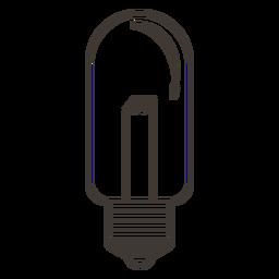 Bombilla tubular icono de trazo