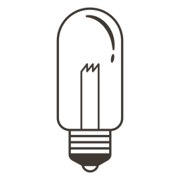 Tubular light bulb stroke icon