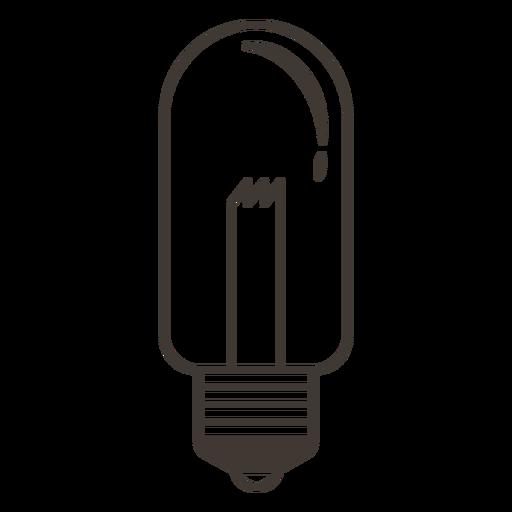 Tubular light bulb stroke icon