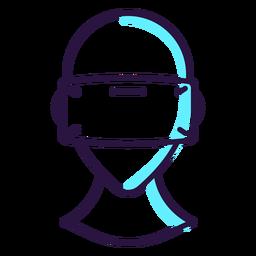 Ícono de auriculares de realidad virtual