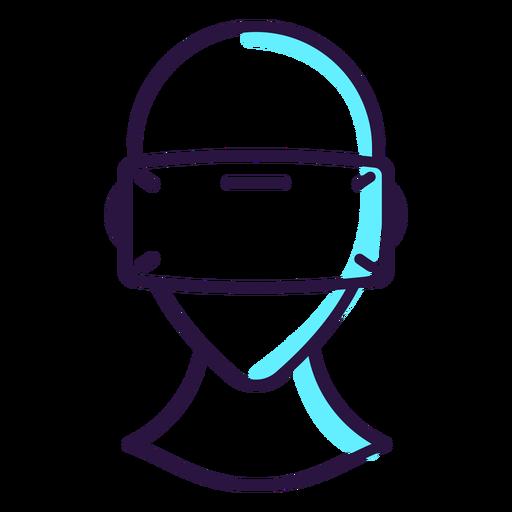 Ícono de auriculares de realidad virtual Transparent PNG