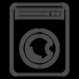 Encanamento de ícone de traçado de máquina de lavar roupa