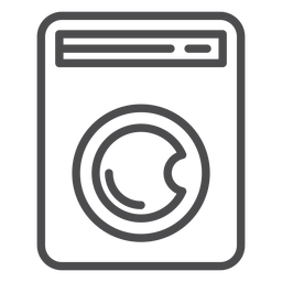 Washing machine stroke icon plumbing