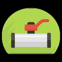 Icono de válvula de cierre de agua