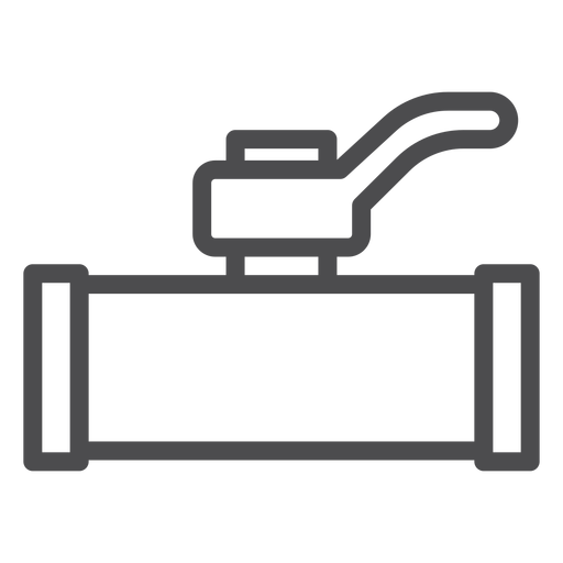 Water shut off valve stroke icon Transparent PNG