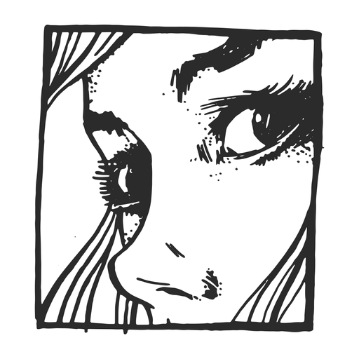 Woman face vintage tattoo