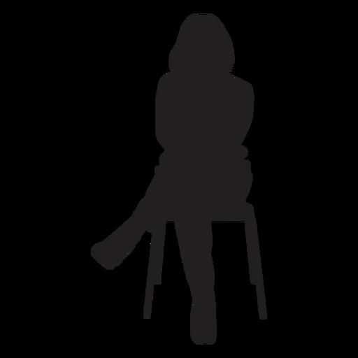 Mujer, sentado, en, silla, silueta Transparent PNG