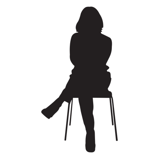 Woman Sitting On Chair Silhouette Transparent Png Amp Svg