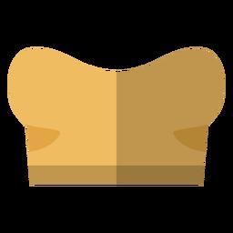 Ícone de sutiã bandeau de mulheres