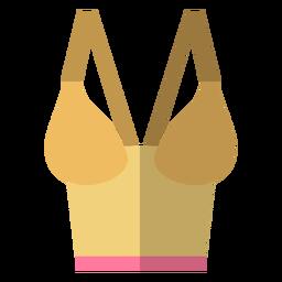 Ícone de sutiã bustiê de mulheres