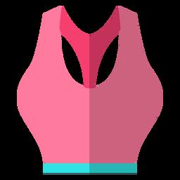 Icono de sujetador deportivo de mujer