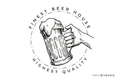 Beer house logo design