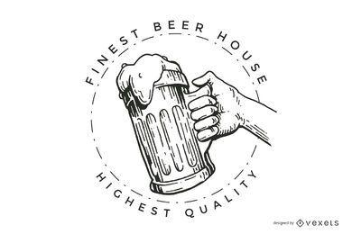Design de logotipo de casa de cerveja