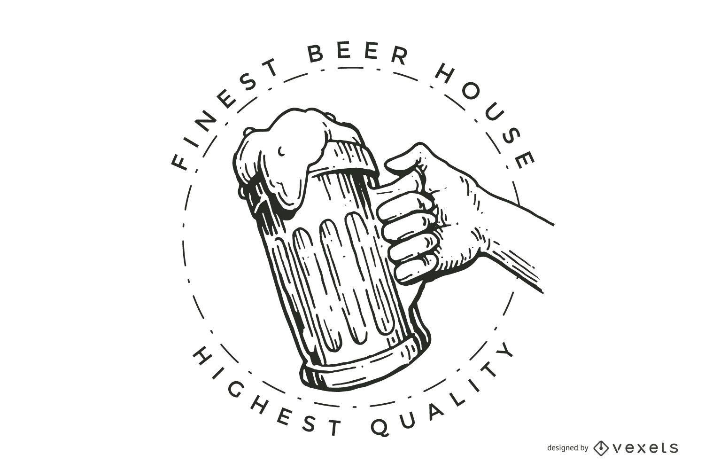 Beer house logo design