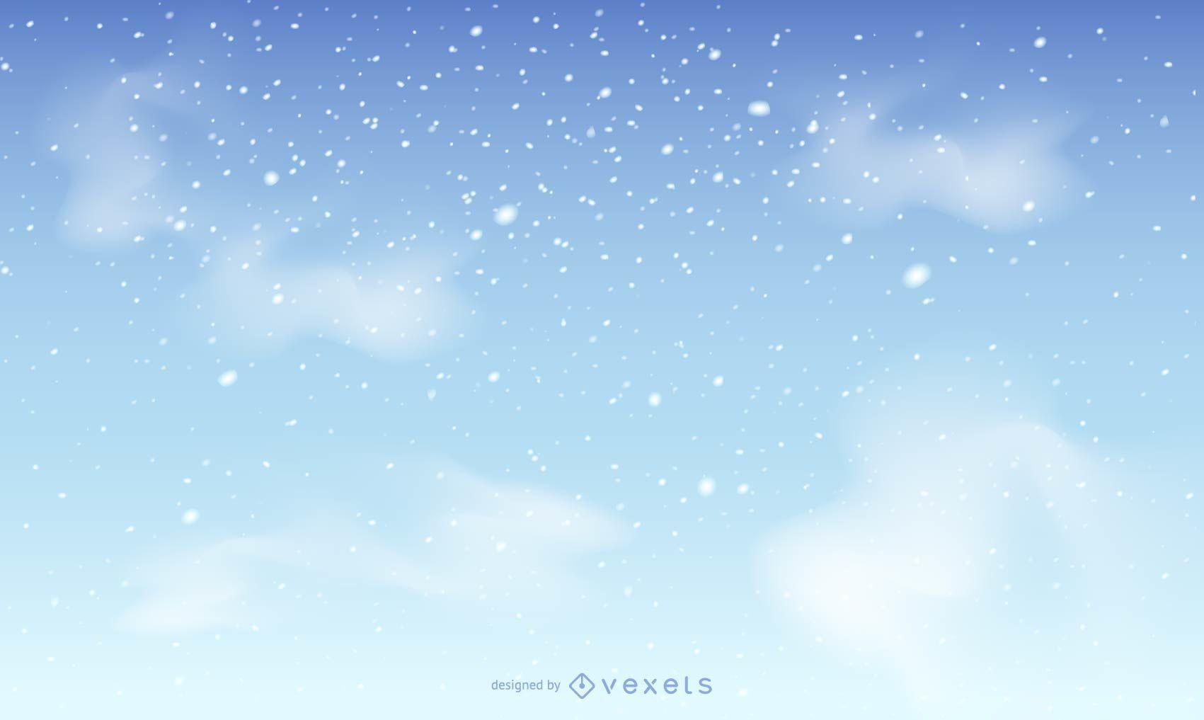 Fondo de cielo de nieve